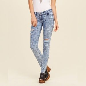 Hollister Super Skinny Acid Wash Jeans Size 0 24